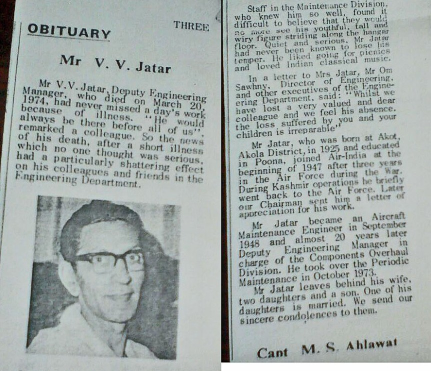 sharad jatar obituary